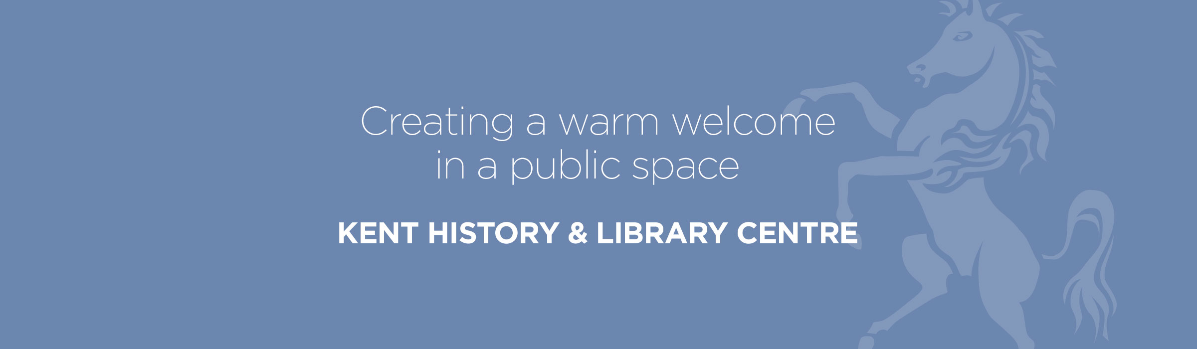 Kent History & Library Centre – Creating a warm welcome in a public space
